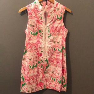 Lily Pulitzer shift dress size 6 flamingo pink